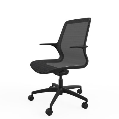 Designer task chair single shell mesh (RS803) – Black frame
