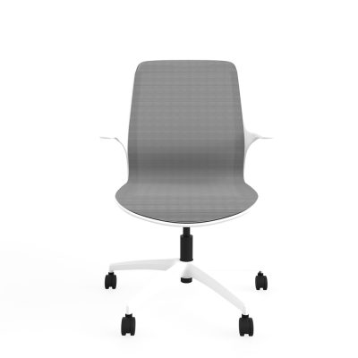 Designer task chair single shell mesh (RS803) – White frame