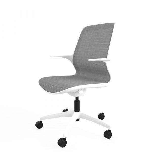 Designer task chair single shell mesh