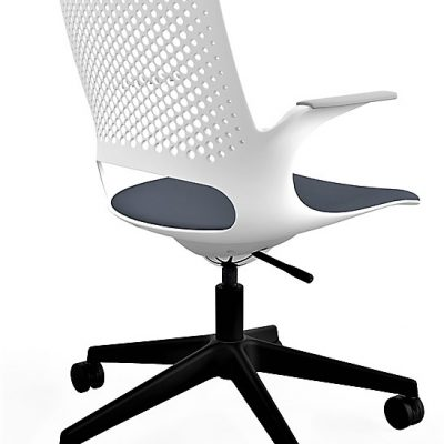 Designer Task Chair with Perforated Back (RS801) Light Grey Shell