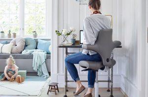 homeworker sitting at desk